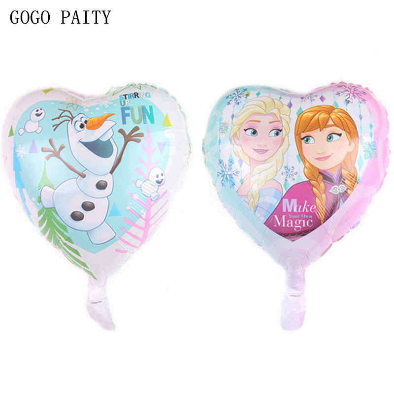 GOGO PAITY Novo 18-polegada heart-shaped double-sided princesa balão de alumínio decorativo balão da festa de aniversário do feriado