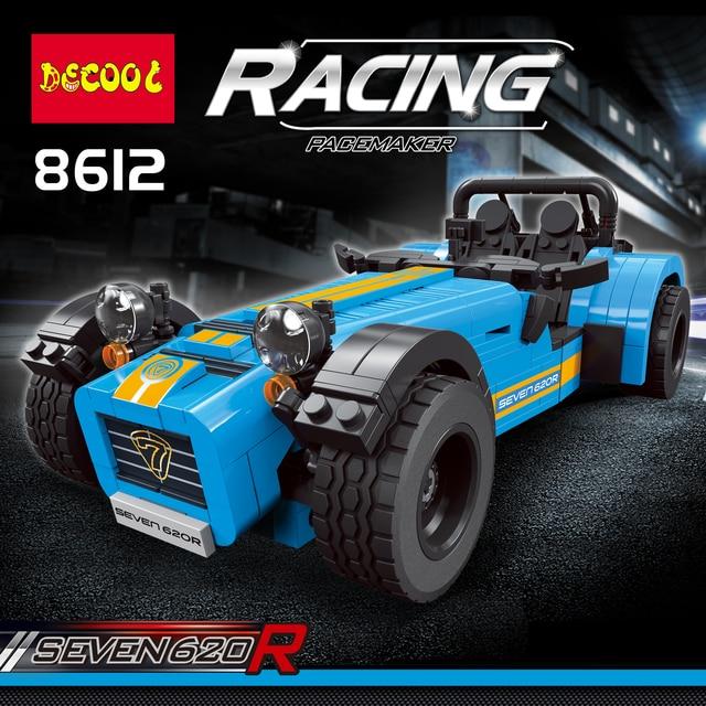 DECOOL טכני 8612 ספורט מרוצי מכוניות Caterham 620R בניין דגם צעצועי ילדים תואם lepinly טכני 21307