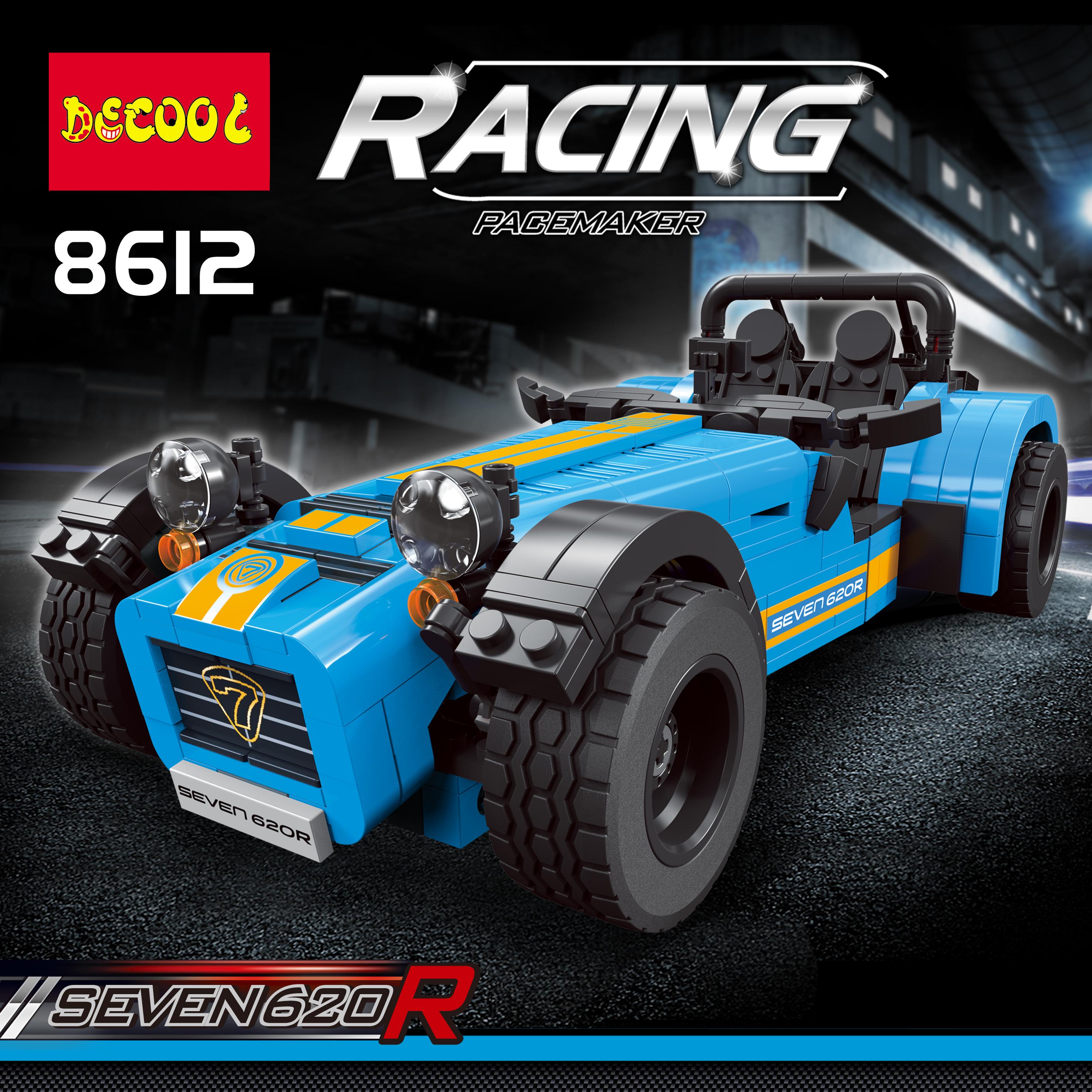 DECOOL Technic 8612 Sports Racing Car Caterham 620R Model building bricks Toys for childrens compatible legos technic 21307
