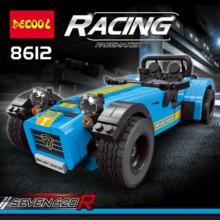 DECOOL teknik 8612 spor araba yarışı Caterham 620R Model yapı tuğlaları oyuncaklar çocuklar için uyumlu lepinly teknik 21307