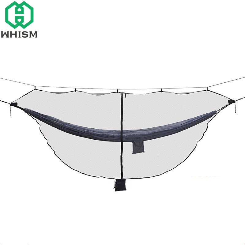 WHISM Outdoor Hammock Mosquito Net Nylon Camping Parachute Mesh 2 Person Garden Anti Insect Net Leisure Hanging Bed Netting