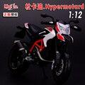 1:12 Aleación modelo de la motocicleta, alta simulación juguetes de metal del bastidor de la motocicleta, Ducati hypermotard sp 2013, envío gratis