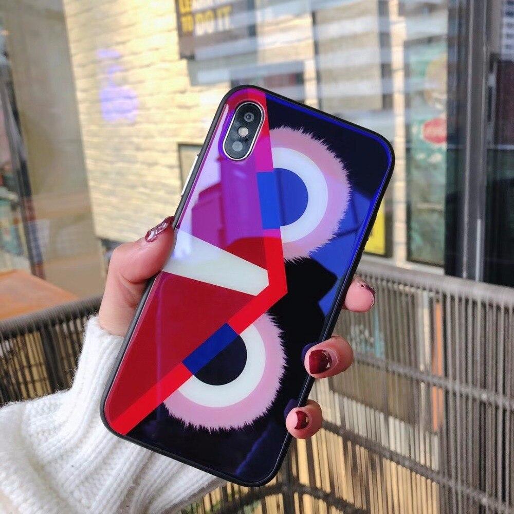 Для iPhone 6 6s 6 Plus 6s плюс 7 7 Plus 8 8 Plus X случаи Сова Керамика чувствовать себя закаленное стекло сзади Панель чехол телефона чехол Shell