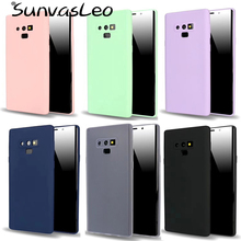 For Samsung Galaxy Note 9 Candy Matte Macaron Colorful Soft Silicone Case TPU Smart Cell Phone Back Cover Skin Fundas Coque