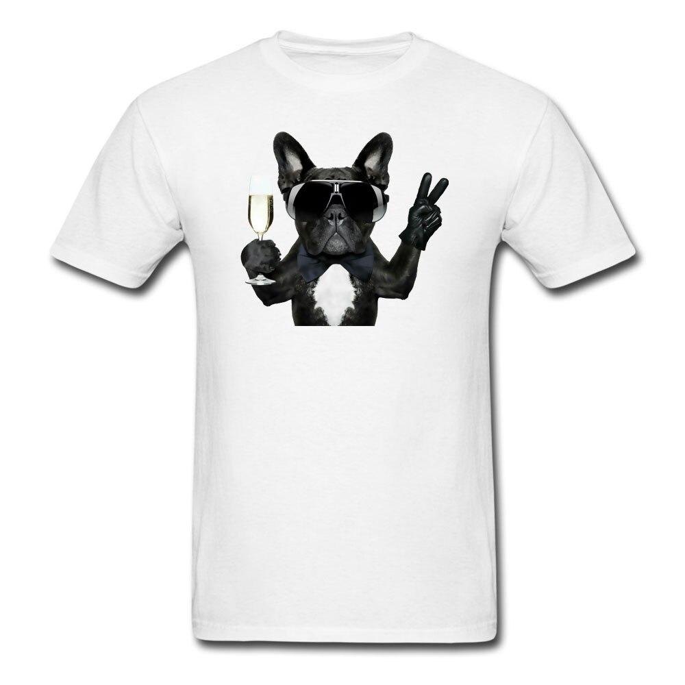 Cute Animal French Bulldog Print T shirt Harajuku High Street Cool Cotton Men Women O Neck Short Sleeve Casual Shirts Brand Tees
