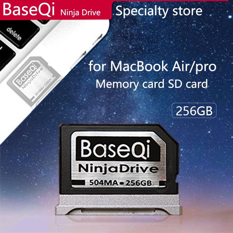 BaseQi Ninja Drive Aluminum 256GB Memory Card SD Card for MacBook Air 13 and MacBook Pro