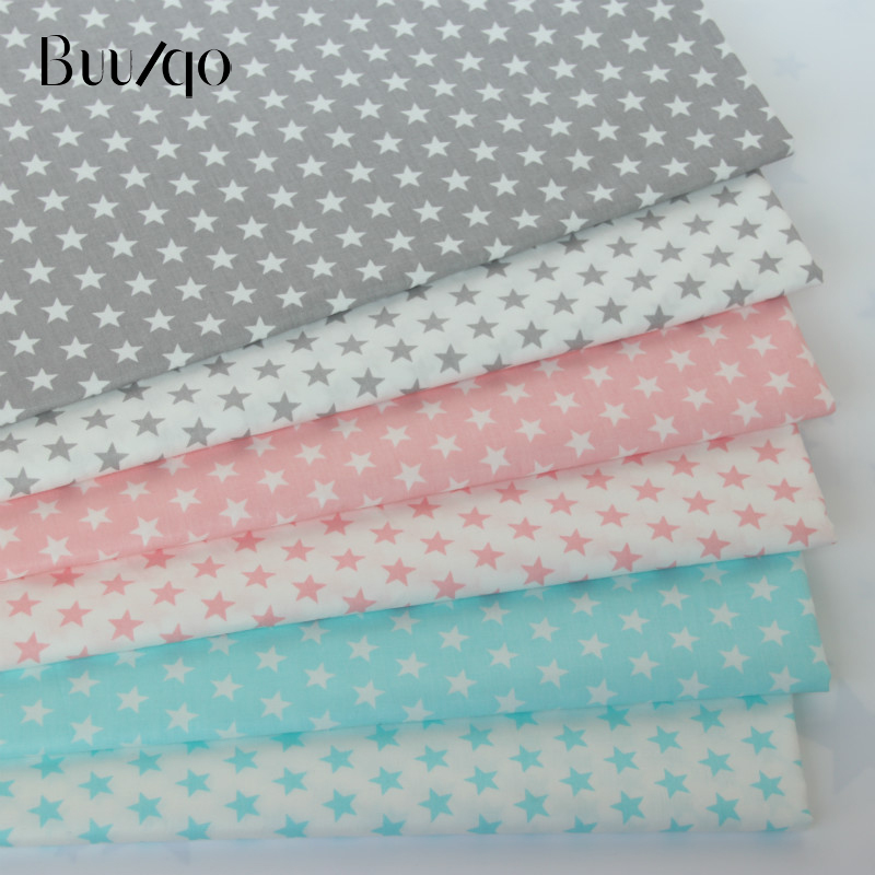 e345635bf2c 50*160cm Printed Stars baby Cotton twill fabric for DIY bedding cloth Sewing  patchwork quilting