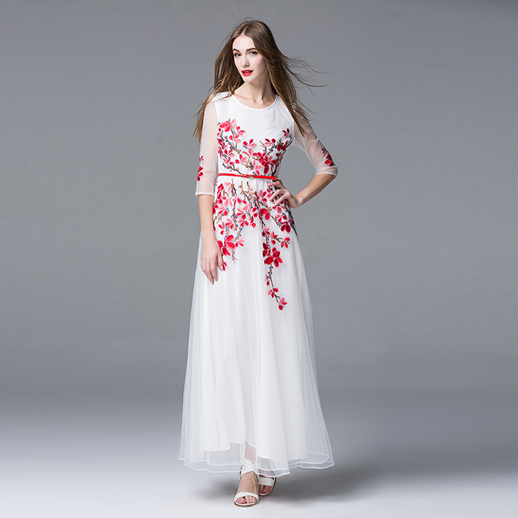 designer maxi floral dresses