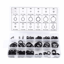 Hot sales Black 225Pcs Sealing Grommet Rubber O Ring Assortment Set Hydraulic Plumbing Gasket Paintball Seal Kit