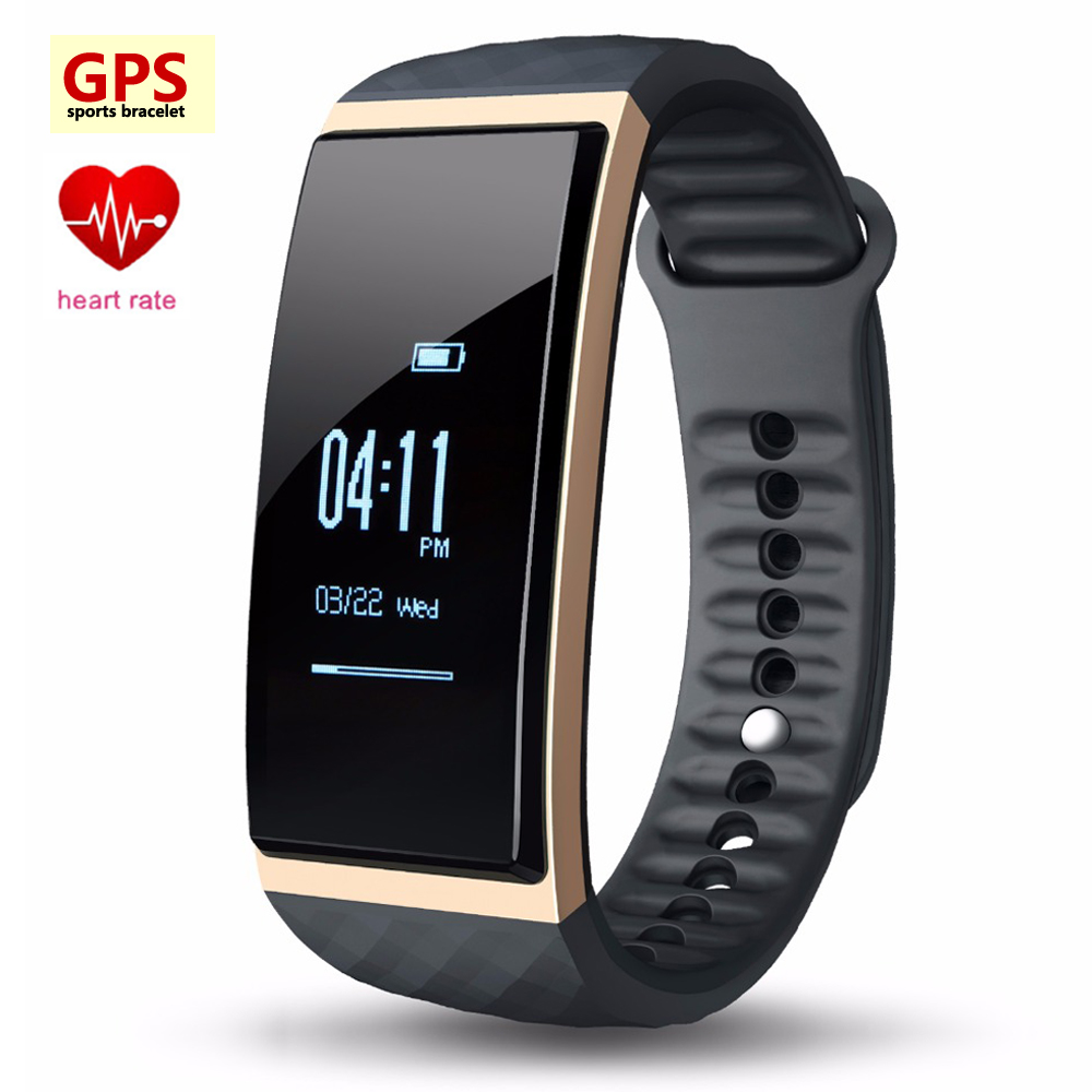 New GPS Tracker Sports Smart Bracelet Heart Rate Monitor Altitude Thermometer Band S1 Wristwatch Fitness Watch for Men and Women cute love heart hollow out bracelet watch for women