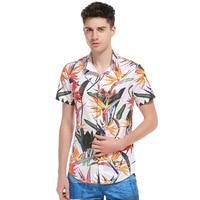 2017 Yeni Tatil Çiçek 3D Baskı Erkekler Hawaiian Plaj Gömlek Yaz Kısa Kollu Tees Tops İngiliz Moda Streetwear Gömlek