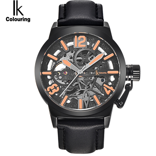 IK Colouring Mens Watches Mechanical Skeleton Water Resistant Male Clock Auto Military Watch Horloges Mannen все цены