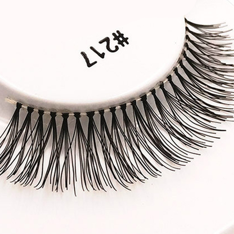 11 kinds of Handmade natural long 100% human hair false eyelashes professional make up f ...