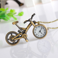 Cindiry unique bronze bike shape quartz pocket watch necklace pendant pocket fob watches classic gift with.jpg 200x200