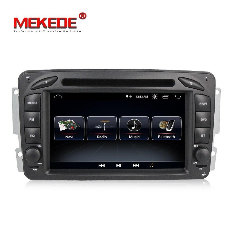 Apto para mercedes/benz clk w209/w203/w168/m/ml/w163/viano/w639 android 8.0 carro dvd player de rádio suporte gps navegação