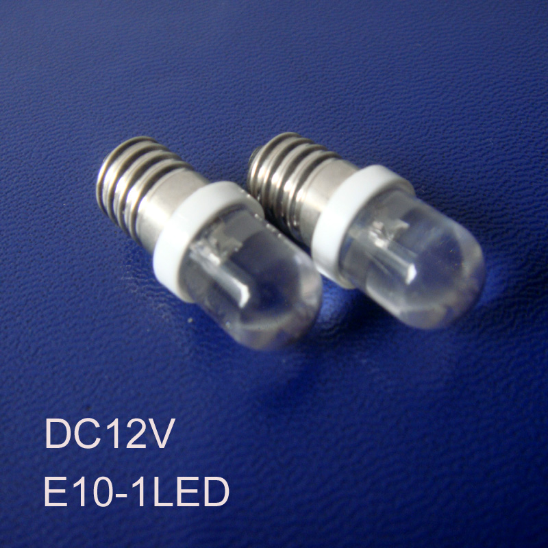 High quality 12V E10 led indicator Lights,12v E10 led signal lights,LED E10 Pilot lamps,E10 led lights free shipping 10pcs/lot