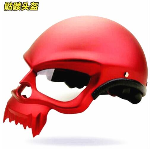 New Arrival DOT Approved High Quality Skull Style Motorcycle Helmet Vintage Retro Motorbike Half Helmets Capacete Cascos Casque