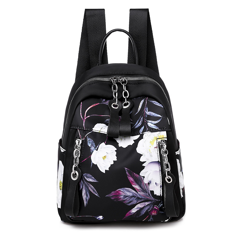 Floral Backpack Japanese and south Korean style Lisure Or Travel Bag for Women Brand High Quality Small WaterProof