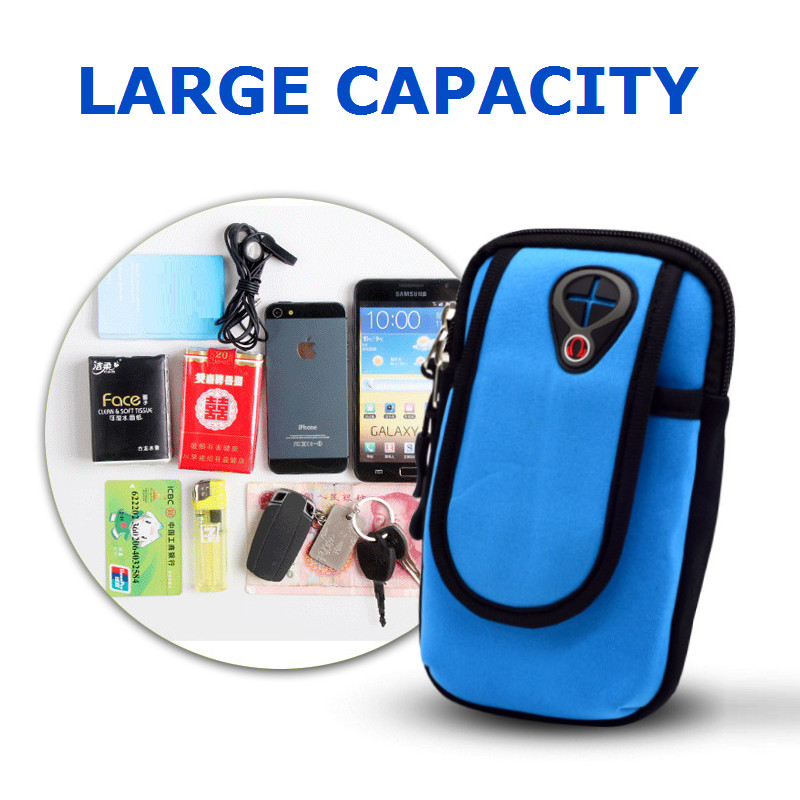 EEMIA 10PCS Arm Pouch For Xiaomi Redmi 4X Case Wrist Belt Phone Bag For iPhone 8 Case For Samsung Galaxy/Huawei/Oneplus/Google