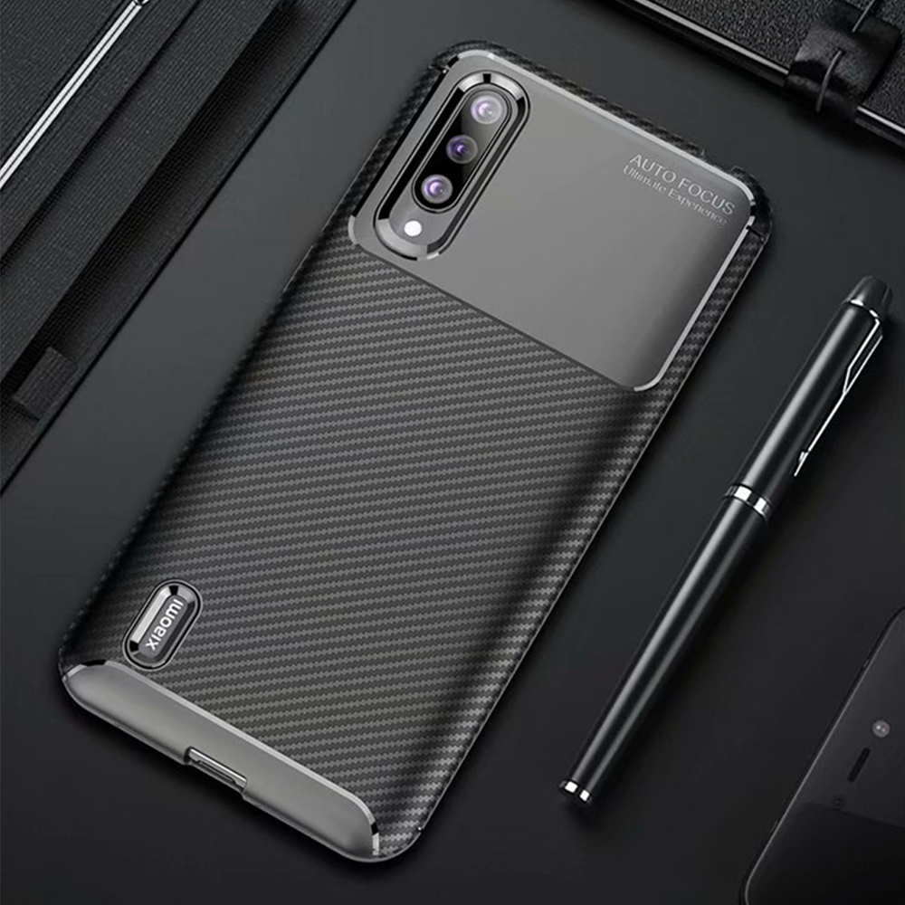 For Xiaomi Mi A3 A 3 Case Luxury Carbon Fiber Cover Shockproof Phone Case For Mi CC9 CC 9e Cover 360 Full Proection Bumper Shell