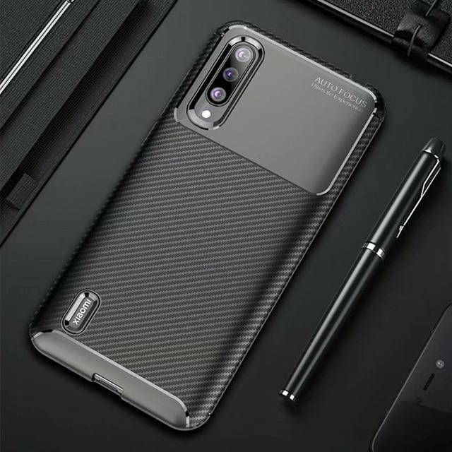 Xiao mi mi A3 bir 3 kılıf lüks karbon fiber kapak darbeye dayanıklı telefon kılıfı için mi 9 Lite CC 9 CC 9e kapak Ultra Fit tampon kabuk