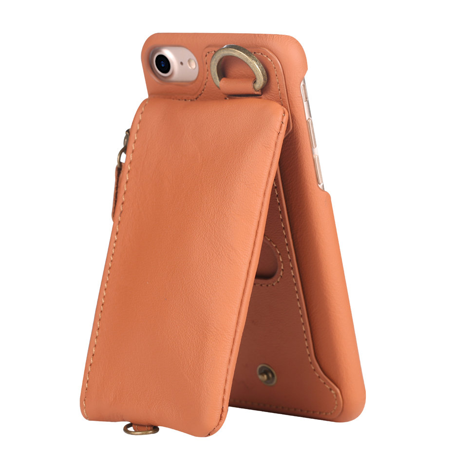 COQUEN For iphone 7 Plus Case Genuine Leather Wallet Bag Luxury Credit Card Flip Cover Vintage Handle Phone Cases For iphone 7   (6)