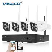 MISECU Plug Play 4CH Wireless CCTV System 720P HD NVR VGA HDMI P2P 30m Night Vision