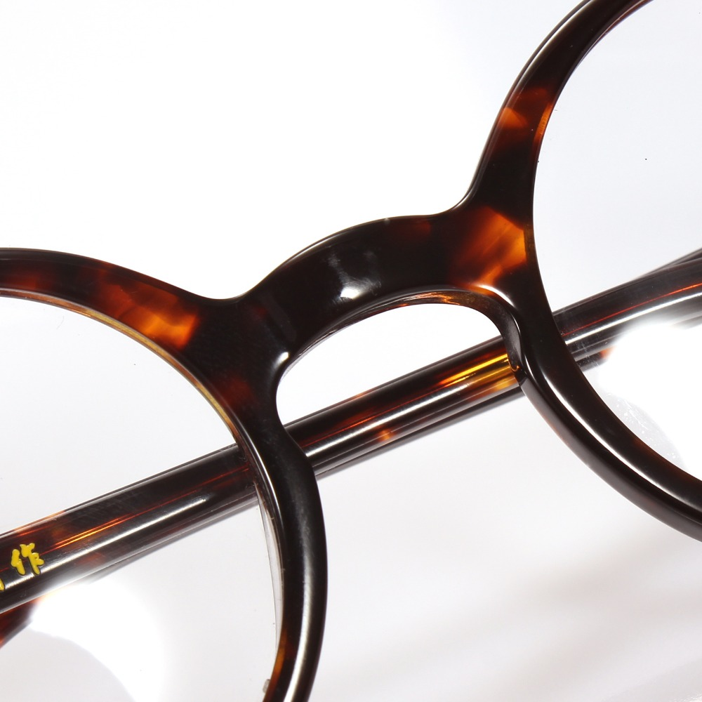 2fc683a61f5 Agstum 42mm Small Round Handmade Vintage Retro Optical Tortoise  Prescription Eyeglasses Frame-in Eyewear Frames from Apparel Accessories on  Aliexpress.com ...