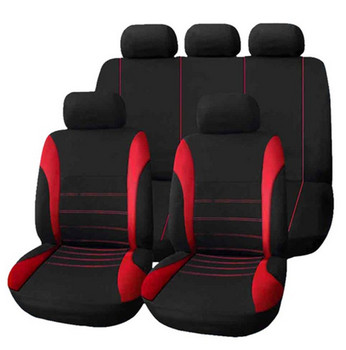 High Quality Universal Car Seat Cover 9 Set Full Seat Covers for Crossovers Sedans Auto Interior Styling Decoration Protect фото