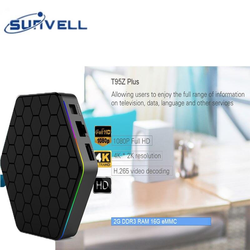 Android 7.1 Sunvell T95Z Plus Mini PC S912 CPU 1000M LAN Set-top Box 4K x 2K H.265 Decoding 5G Dual Band WiFi Media Player