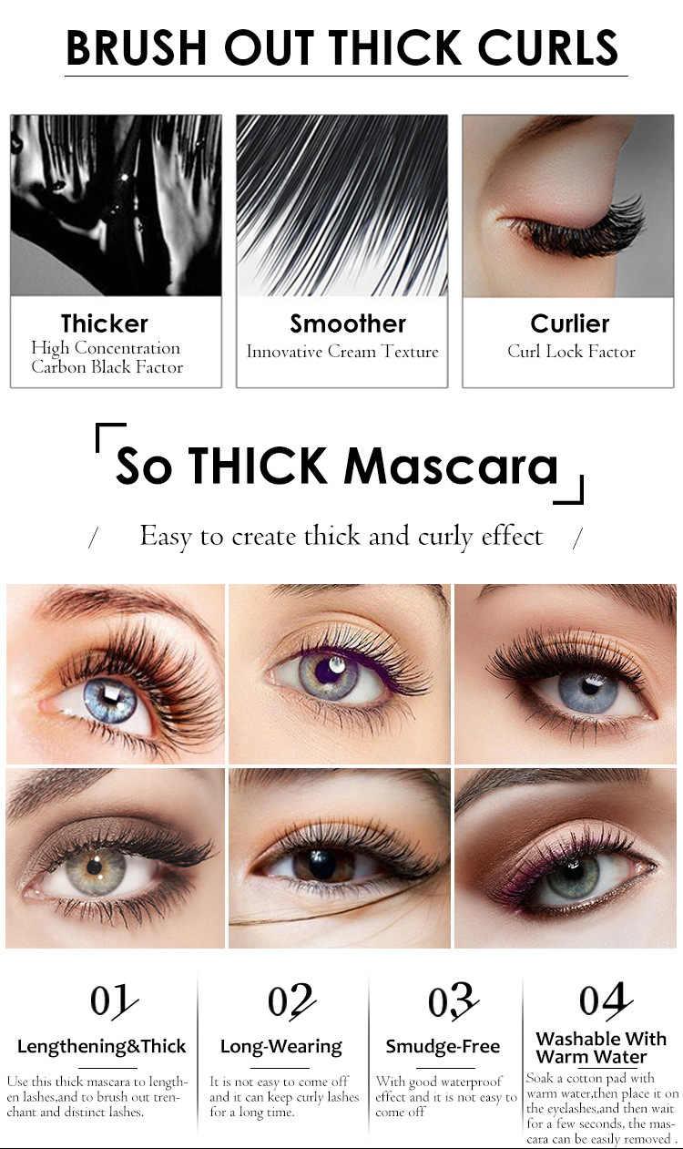 Mascara à friser épais en Fiber De soie 4D Extension De faux cils durable imperméable à l'eau allongeant cosmétique De Alargamiento TSLM2