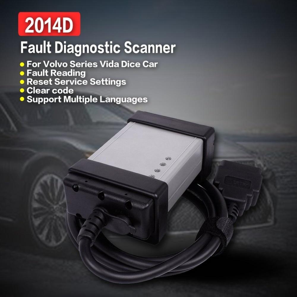 2014D OBD2 OBDII Car Engine Automotive Fault Diagnostic Scanner Tool Full Chip Green Board for Volvo Series Vida Dice|Circuit Breaker Finders| |  -