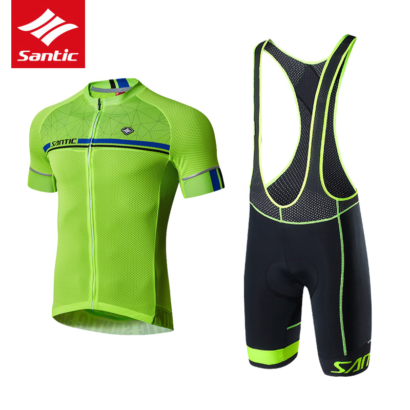 Santic Cycling Jersey Set Men Short Sleeve Downhill MTB Road Bicycle Jersey Set Quick-dry Mountain Bike Clothing Ropa Ciclismo santic men short sleeve cycling jersey breathable summer cycling clothing mtb road downhill bicycle bike jersey anti sweat