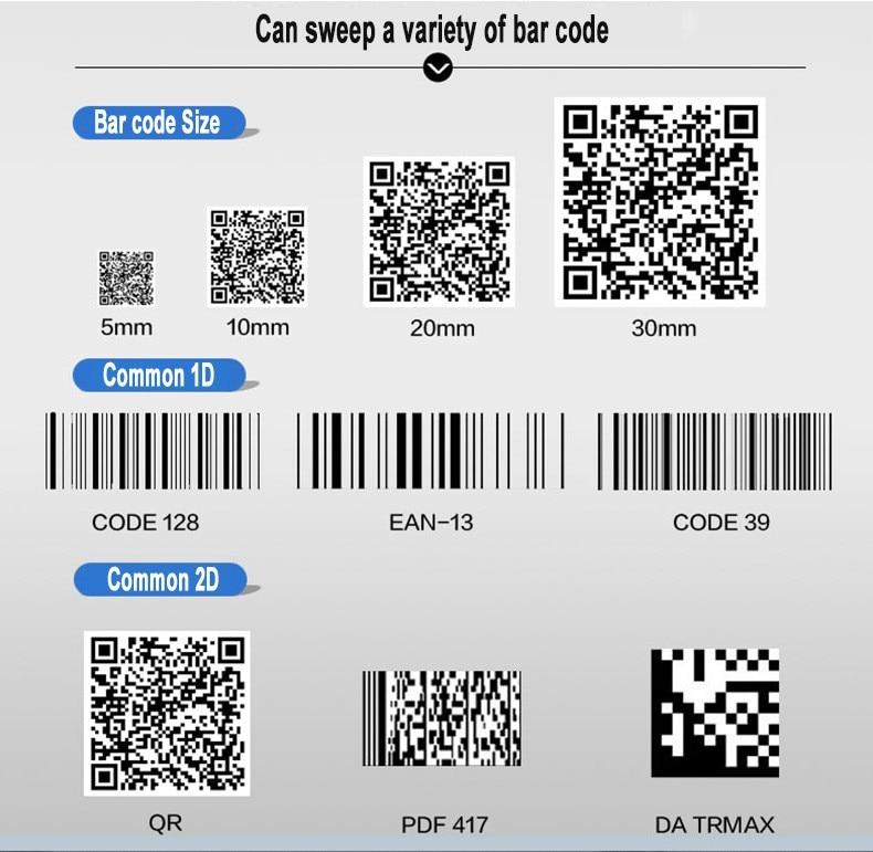 Sem Fio 280 scans seg Código QR