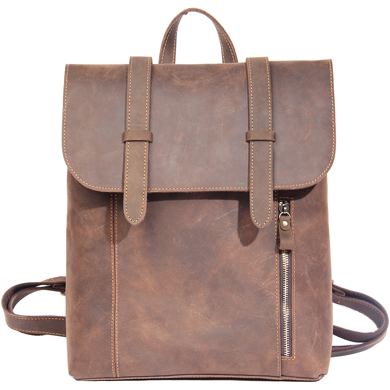Amasie Vintage Men Backpack Cool Back Pack Boys Real Leather Male Daily Out Door School  ...