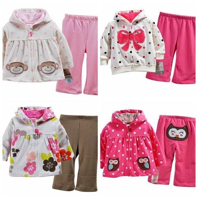 Бренд, новые 2016, дети комплект одежды, новорожденных infantil девушка одежда, детская одежда детей спортивный костюм, девочка 2 шт. толстовки