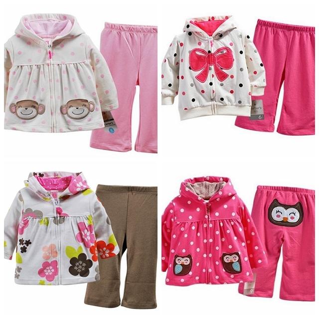 Marca, nuevo 2016, ropa de los niños, recién nacido, infantil ropa de la muchacha, desgaste del bebé niños del juego del deporte, bebé 2 unids hoodies