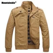 Mountainskin 2018 New Men's Jackets Autumn Casual Military Tactical Coats Slim Fit Male Bomber Jacket Mens Brand Clothing SA531(China)