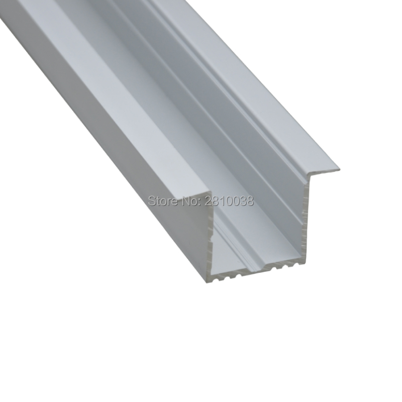 10 X 1M Sets/Lot T type Anodized silver led channel for 5630 led strip and led aluminum groove 1M for ceiling or wall lights