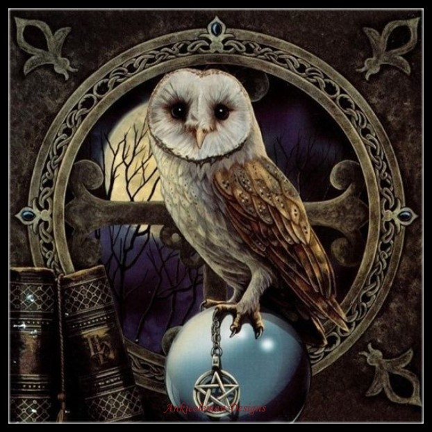 Embroidery Counted Cross Stitch Kits Needlework - Crafts 14 ct DMC Color DIY Arts Handmade Decor - Spell Keeper's Owl