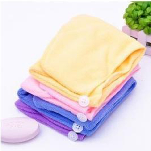 New qualified Women Bathroom Super Absorbent Quick-drying Hair Towel Microfiber Hair Dry Cap