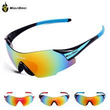 WOLFBIKE Cycling Glasses Men Women gafas ciclismo Sports Windproof Eyewear Mountain Bike  Motorcycle Glasses Sunglasses Ciclismo