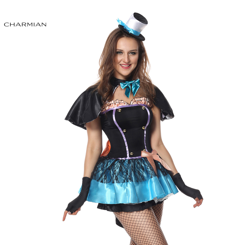Charmian Sexy Mad Hatter Halloween Costume for Women Wonderland Anime Cosplay Costume Fancy Dress Perfermance Party Show Clothes-in Movie u0026 TV costumes from ...  sc 1 st  AliExpress.com & Charmian Sexy Mad Hatter Halloween Costume for Women Wonderland ...