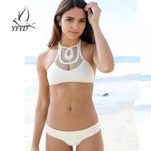 Sexy Brazilian Hollow Out Tops Solid Swimwear Female 2017 New Vintage Women Swimsuit Triangle Bikini Set Beachwear Bathing Suit