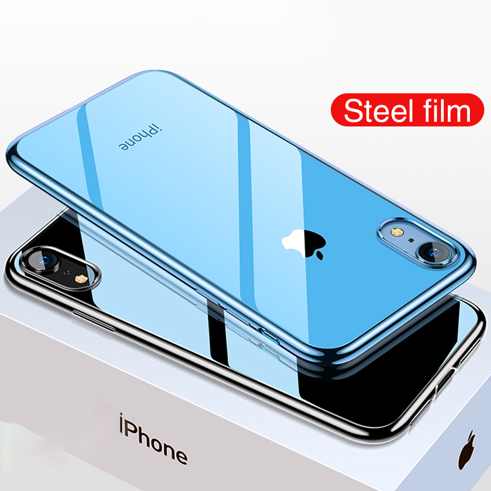 OTAO Ultra Thin Transparent Phone Case For iPhone XS MAX XR X 8 7 6 6s