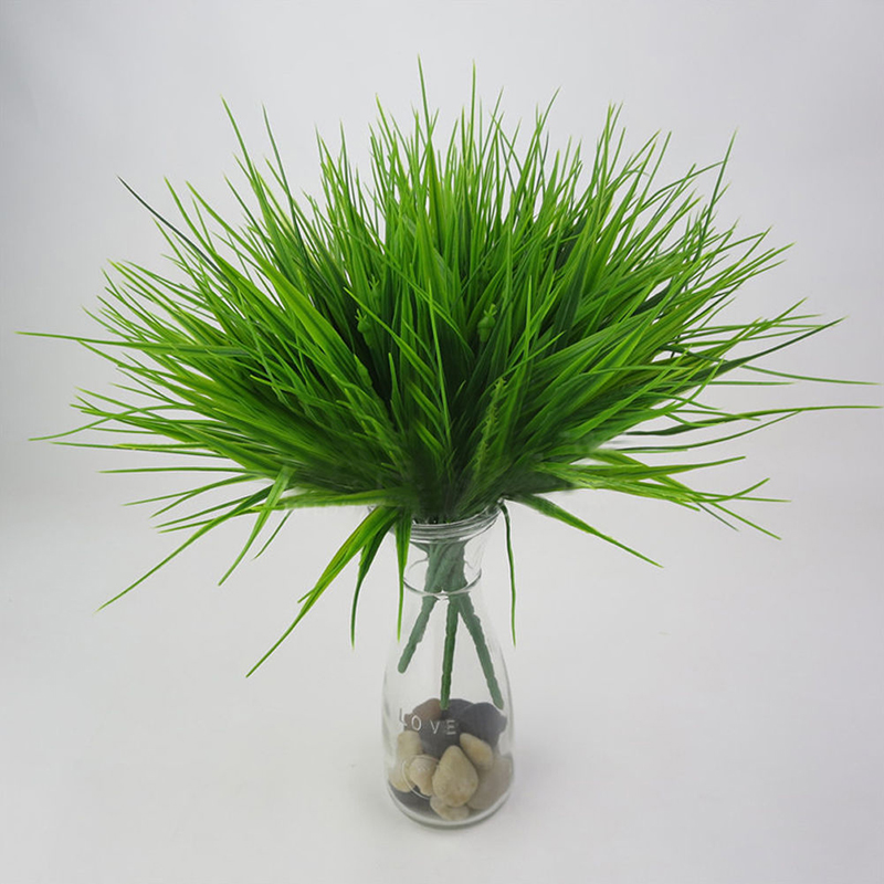 Image 4 - 1pc Artificial Plant Flower with Leaf Plastic Green Grass Tree Plant Fake Leaf Foliage Bush for Home Wedding Hotel Party Decor-in Artificial & Dried Flowers from Home & Garden