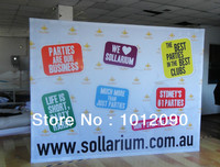 Ready Pop Fabric Pop Up Trade Show Display 10 ft Single Sided Straight Graphic and Frame Combo (free shipping)