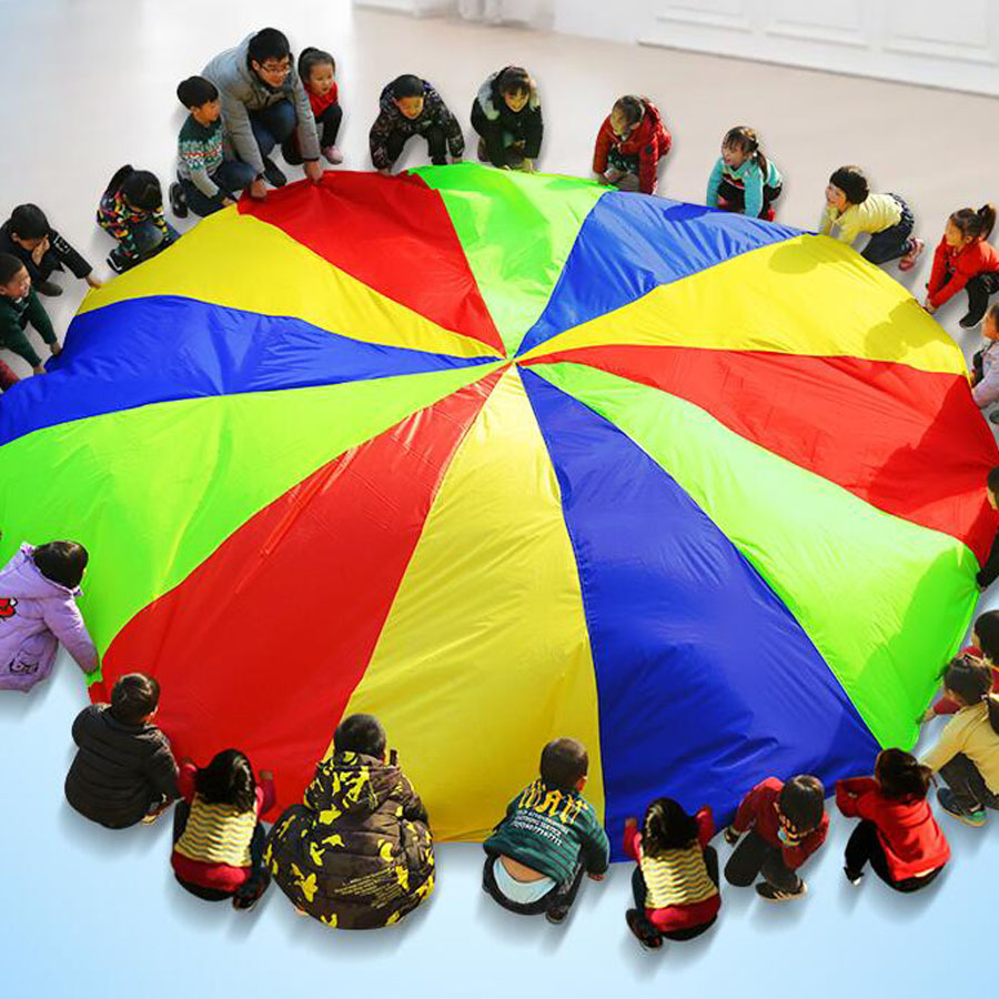 6d0f5b9f2fea ... Comprar Salida Camping juguete interactivo Arco Iris paraguas al aire  libre deportes juguetes saco Ballute juego paracaídas jardín de infantes NIÑOS  2 m ...