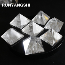 Runyangshi Natural Transparent Quartz Crystal Pyramid Clear Reiki Healing white crystal raw stone polishing BB03