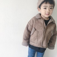 Baby Girl Boy Jacket Turn Down Collar Wool Children Jacket Boys Clothing Baby Boy Winter Jacket